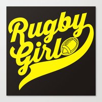 rugby Canvas Prints featuring RUGBY by solomnikov
