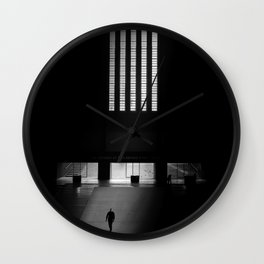 black white photo Wall Clock