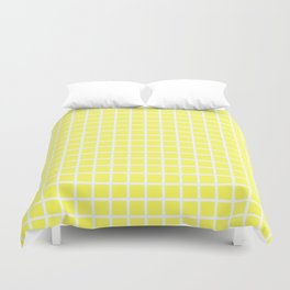 Grid (White & Yellow Pattern) Duvet Cover