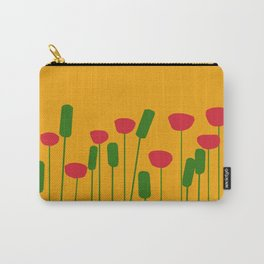 Poppies in orange Carry-All Pouch