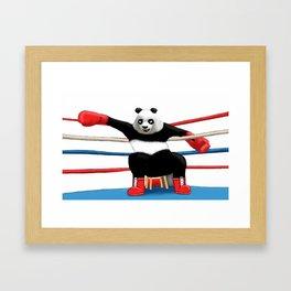 Boxing Panda Framed Art Print
