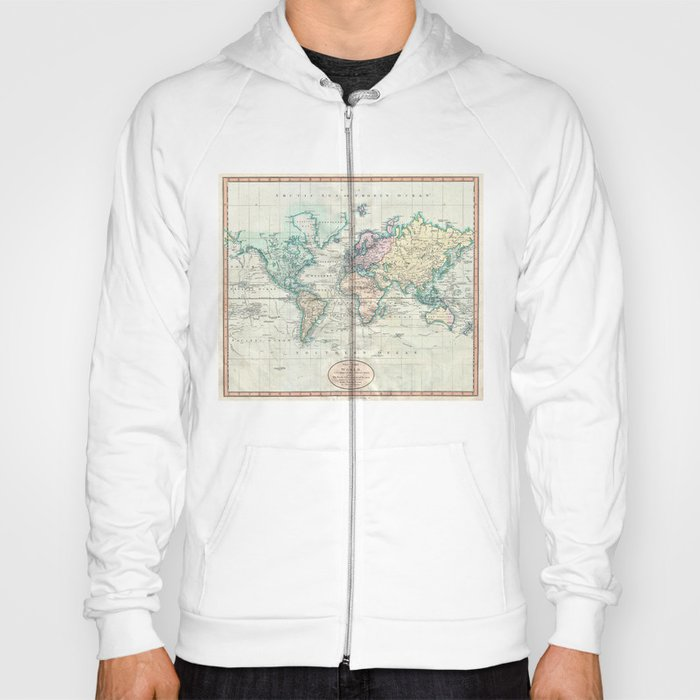 Vintage map of the world 1801 hoody by bravuramedia society6 vintage map of the world 1801 hoody gumiabroncs Choice Image