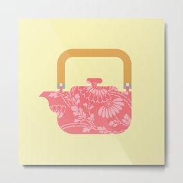 Japan Teapot Spring Metal Print