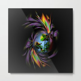 Abstract in Perfection - Flowermagic Roses Metal Print