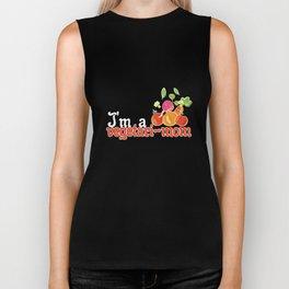 Vegetarian Humor Gift for vegans, vegetarian food and animal lovers Biker Tank