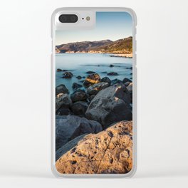 Photograph of a rocky coastline and beach Clear iPhone Case