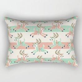 Candy Cane Reindeer Rectangular Pillow