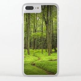 A Woodland Path in Cades Cove Clear iPhone Case