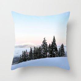 Ski area boundary Throw Pillow