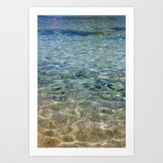 touching water Art Print
