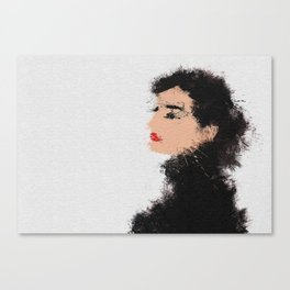 Audrey Hepburn Abstract Painting Canvas Print