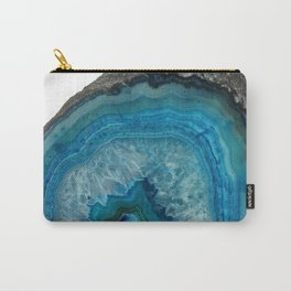 Blue Pattern Zigzag  cutest  Birthday Gift Gemstone Carry-All Pouch