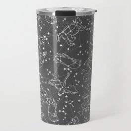 Constellations animal constellations stars outer space night sky pattern by andrea lauren grey Travel Mug