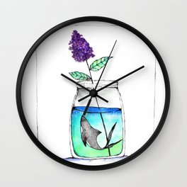 A Curious Jar Wall Clock
