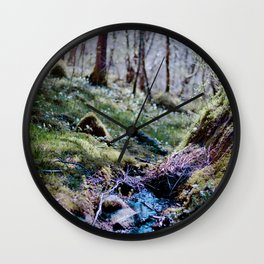 Norwegian wood 2 Wall Clock