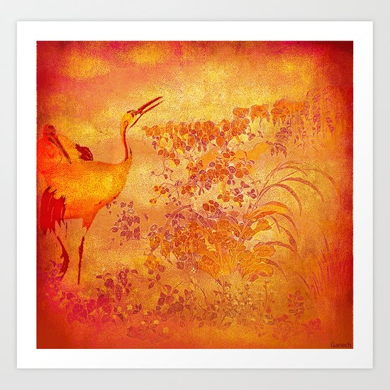 The storks of the forgotten paradise Art Print