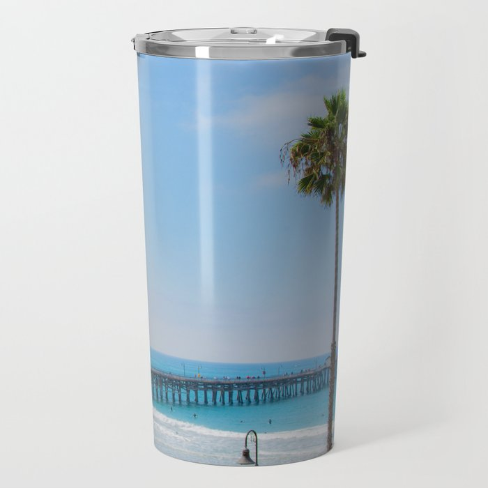 Sunny California Beaches Travel Mug