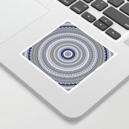 Navy Blue Grey Bohemian Mandala Sticker
