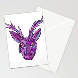 Jackalope Head Front Mosaic Stationery Cards