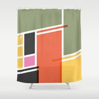 cycling Shower Curtains featuring SECRET CYCLING FLAG - VOIGT by ahutchabove