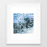 snow leopard Framed Art Prints featuring Snow Leopard by Caleb Troy