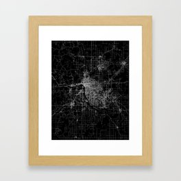 Tulsa map Oklahoma Framed Art Print