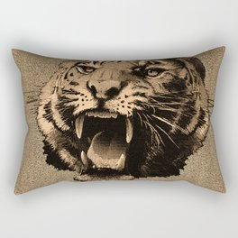 Vintage Tiger Rectangular Pillow