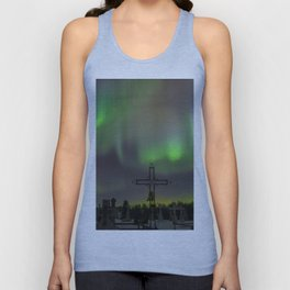 Ghostly Northern Lights Unisex Tank Top