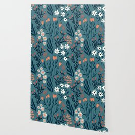 HAND PAINTED AUTUMN / SPRING FLORAL BOUQUETS Wallpaper