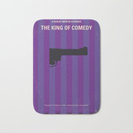 No496 My The King of Comedy minimal movie poster Bath Mat
