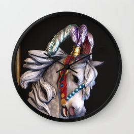 Horsey-Go-Round Wall Clock