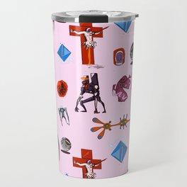 Evangelion Angels Pattern Travel Mug