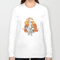 dinosaurs Long Sleeve T-shirts featuring Dinosaurs Girl by Forlife Illustration