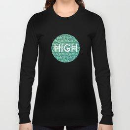 HIGH TYPO! Cannabis / Hemp / 420 / Marijuana  - Pattern Long Sleeve T-shirt