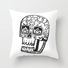 Day of the Deads - black Throw Pillow