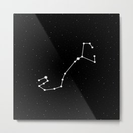 Scorpio Star Sign Night Sky Metal Print