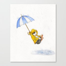 Puddle Jumping Canvas Print