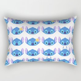 The Many Faces of Stitch Rectangular Pillow