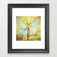 Yellow Tree Framed Art Print