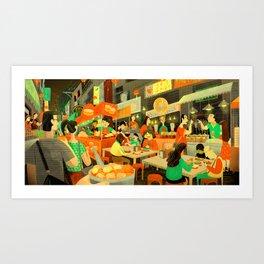 Taiwan NightMarket Art Print