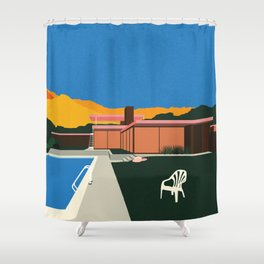 Kaufmann Desert House Poolside Shower Curtain