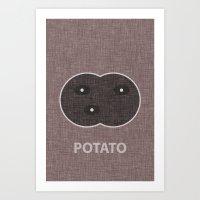 potato Art Prints featuring Potato by Carter Payne