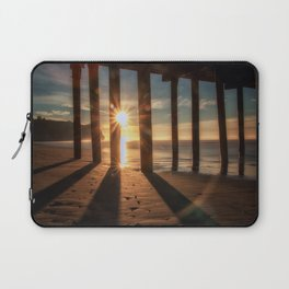 Through the Blinds sun bursts through Avila Pier Avila Beach California Laptop Sleeve
