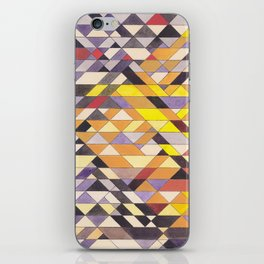 Triangle Pattern No.8 Black and Yellow iPhone Skin
