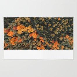 forest orange 4 Rug