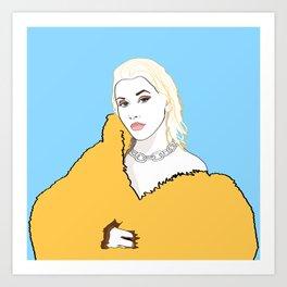 CHRISTINA AGUILERA LIBERATION Yellow Fur Jacket Art Print