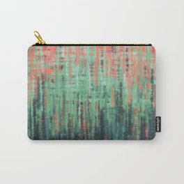 Coral Mint Navy Abstract Carry-All Pouch