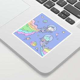 Space Unicorn and Narwhal Sticker