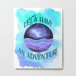 Let's Have an Adventure - Boho Wanderlust Watercolor Metal Print
