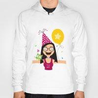 birthday Hoodies featuring Birthday by Zurecia
